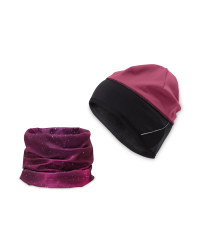 Crane Pink Hat & Snood Set
