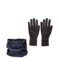 Crane Grey Glove & Snood Set