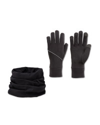 Crane Black Glove & Snood Set