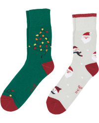 Tree/Santa Christmas Socks 2 Pack