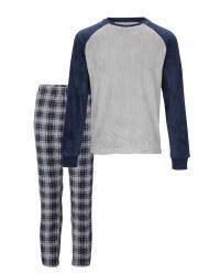 Men's Grey/Blue Loungewear Set