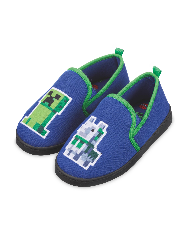 Kids' Green Minecraft Slippers