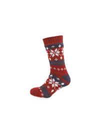 Men's Snowflake Slipper Socks