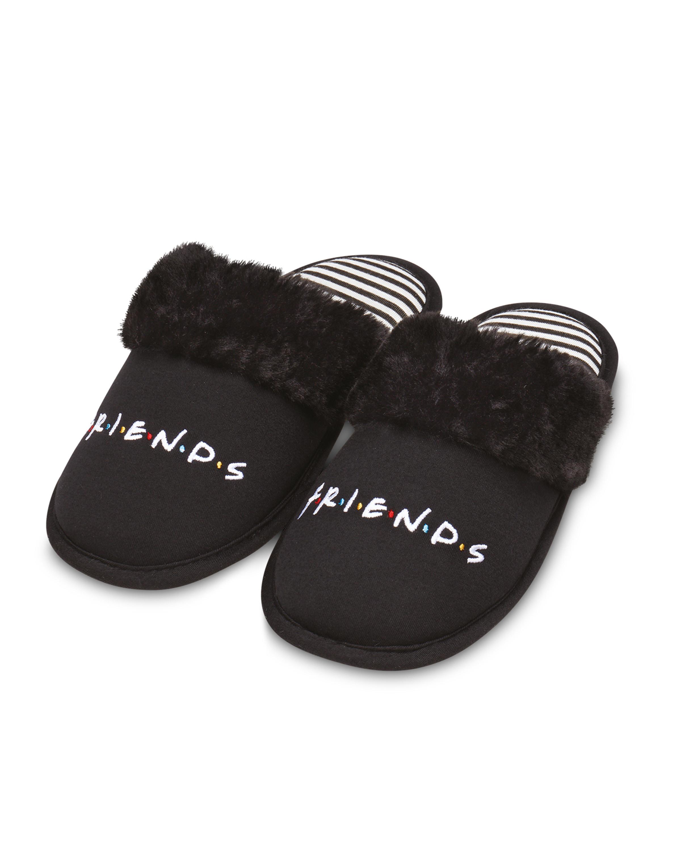 Ladies' Black Friends Slippers