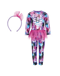 Girls' Skeleton Halloween Costume