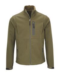 Crane Green Softshell Fishing Jacket