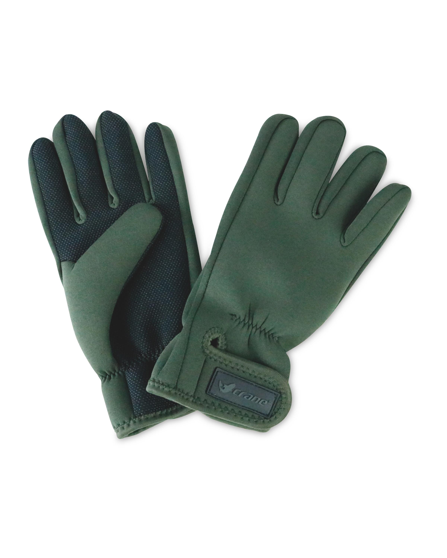 Crane Green No Fold Fishing Gloves