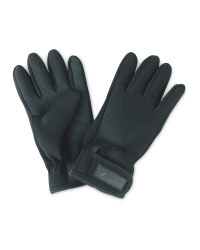 Crane Black No Fold Fishing Gloves