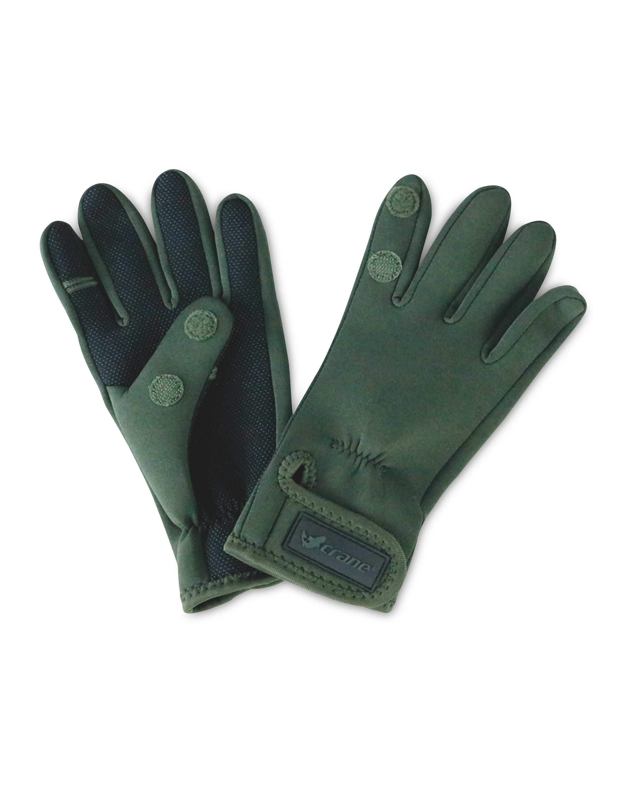 Crane Green One Fold Fishing Gloves