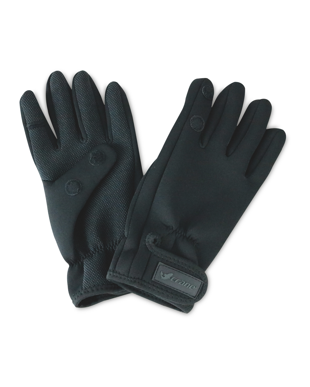 Crane Black One Fold Fishing Gloves