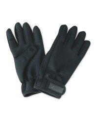 Crane Black One Fold Fishing Gloves