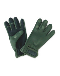 Crane Green Two Fold Fishing Gloves
