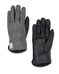 Men's Harris Tweed Leather Gloves