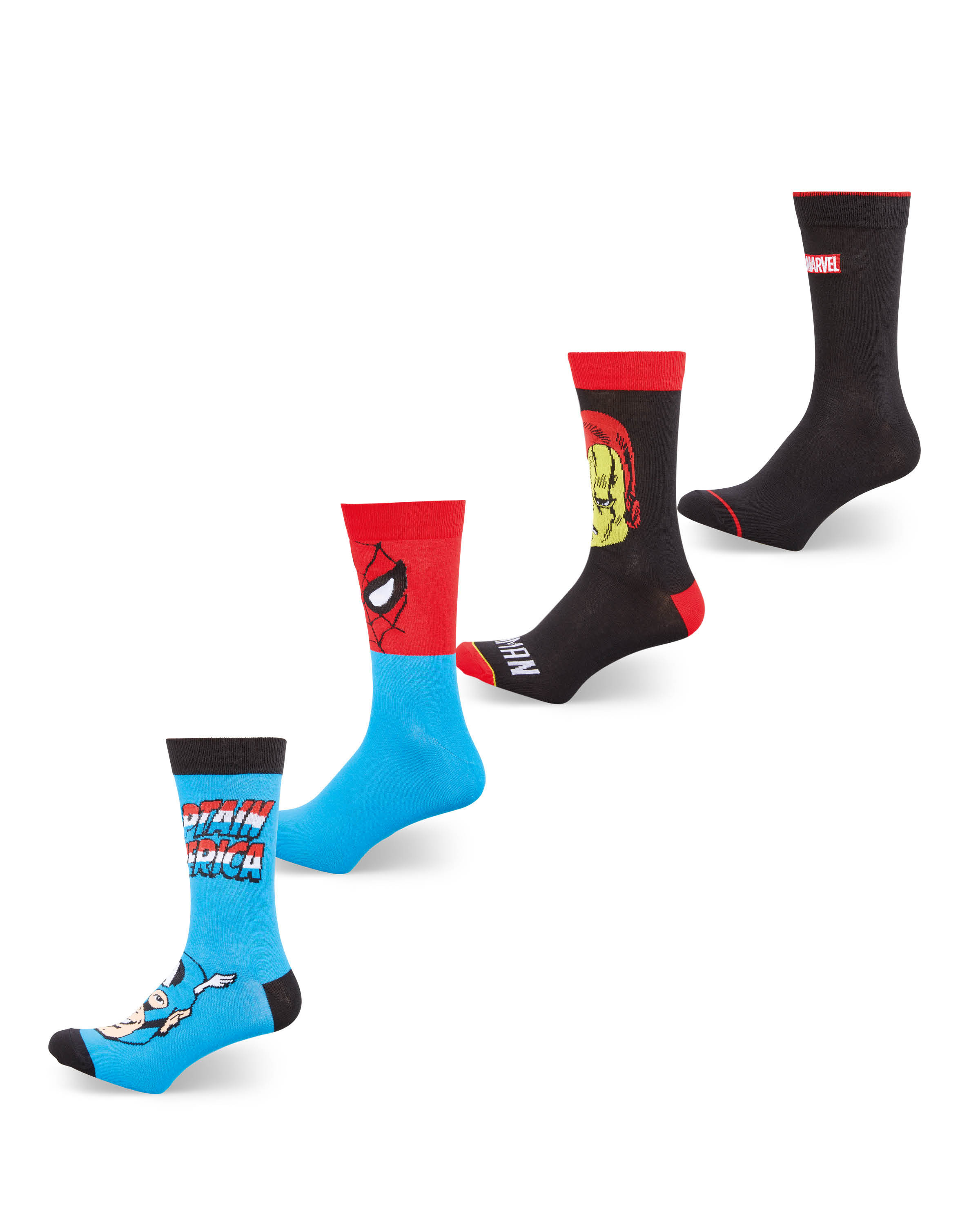 Men's Marvel Socks 4 Pack