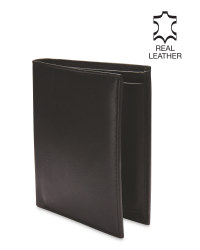 Avenue Leather Upright Black Wallet