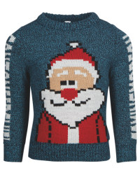 Kids' Blue Gaming Santa Jumper