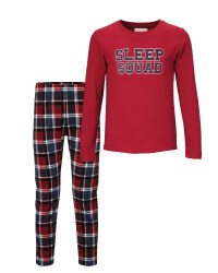 Lily & Dan Kids' Red/Blue Pyjamas