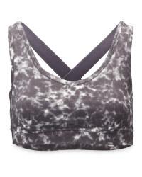 Ladies' Marble Print Yoga Sports Bra
