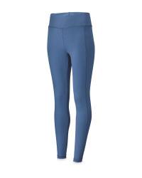 Ladies' Blue Yoga Leggings