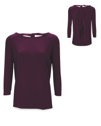 Ladies' Purple Yoga Top