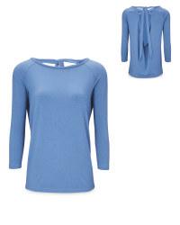 Ladies' Blue Yoga Top