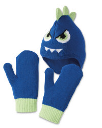 Monster Hat & Mittens Set 3-6 Years