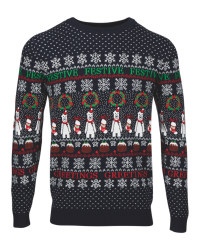 Avenue Men's Navy Christmas Jumper