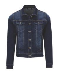Ladies' Dark Blue Denim Jacket