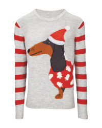 Ladies' Premium Dog Xmas Jumper
