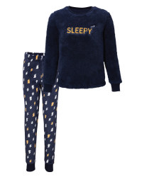 Kids' Navy Sleepy Fleece Pyjamas