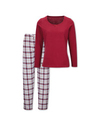 Avenue Ladies' Bordeaux Pyjamas