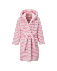 Kids' Pink Stripe Dressing Gown