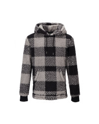 Avenue Men's Check Borg Hoody