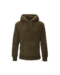 Avenue Men's Olive Borg Hoody