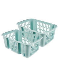 Teal Large Basket 2 Piece Set