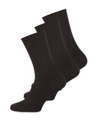 Black Diabetic Friendly Socks 3 Pack
