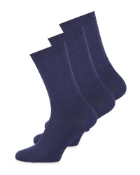 Blue Diabetic Friendly Socks 3 Pack