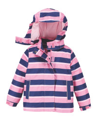 Pink Stripe Infant's Raincoat