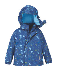 Navy Infant's Raincoat