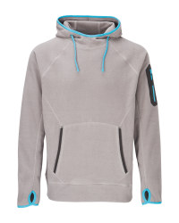 Men's Grey & Blue Workwear Hoody