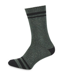 Crane Green Short Fishing Socks