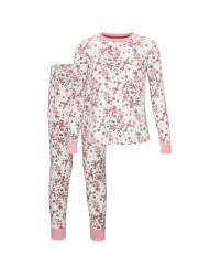 Children's Off White Floral Pyjamas