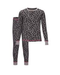 Children's Grey Leopard Pyjamas