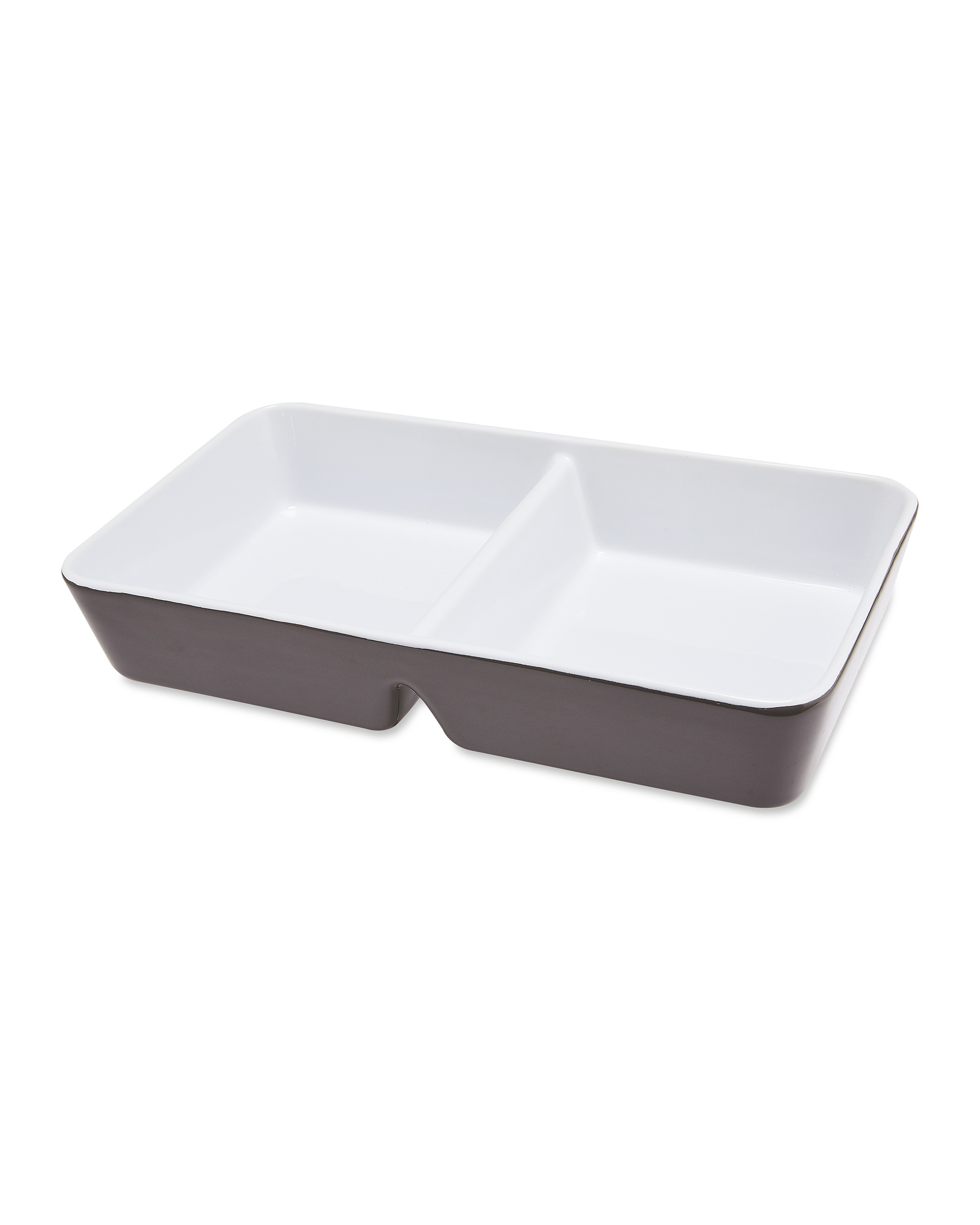 Rectangle Grey Divided Serving Dish