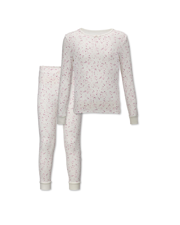 Lily & Dan Kids' White Stars Pyjamas