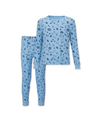 Lily & Dan Kids' Blue Robot Pyjamas