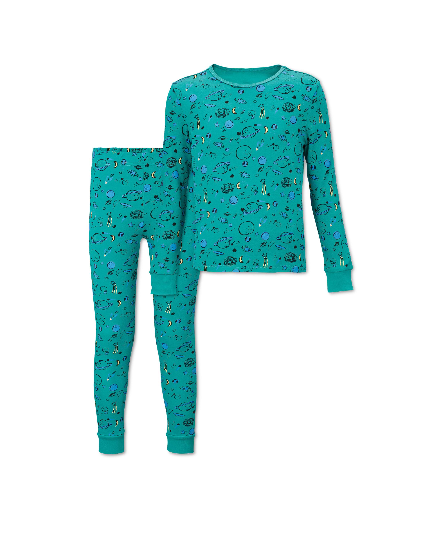 Lily & Dan Kids' Green Space Pyjamas