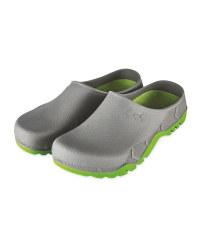 Gardenline Grey/Lime Garden Clogs