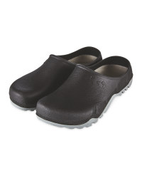 Gardenline Black/Grey Garden Clogs