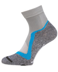 Grey/Blue Cycling Ankle Socks